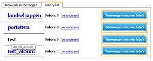 Mijn Hosting Partner - Sitebuilder / Gallery - Stap 3