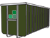 40 M3 Hout container